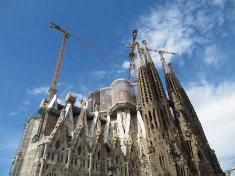 Back of La Sagrada Familia