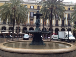 One of the many plazas/squares.