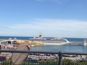 Barcelona's cruise ship port.