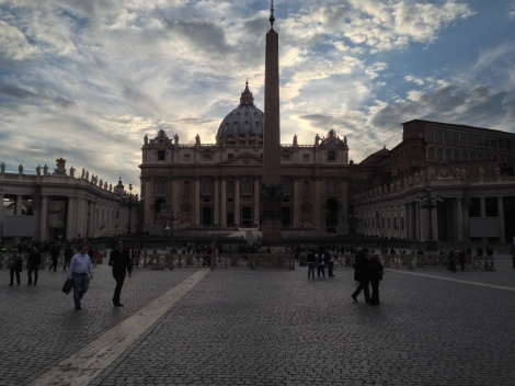 Finally, the gorgeous St. Peter's Square.