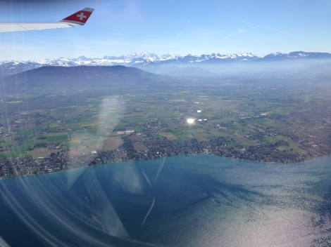 Switzerland from the air.